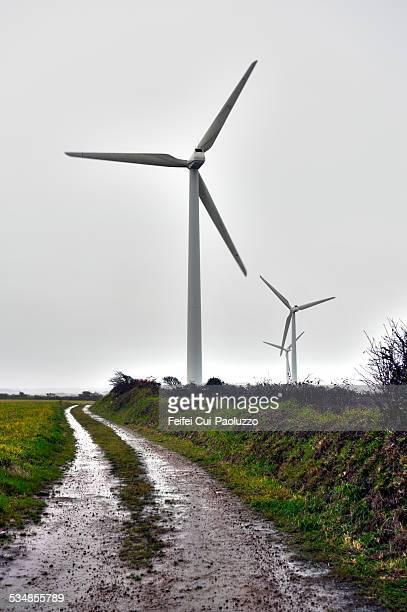 Wind turbine at Pointe de Corsen-Finistère France