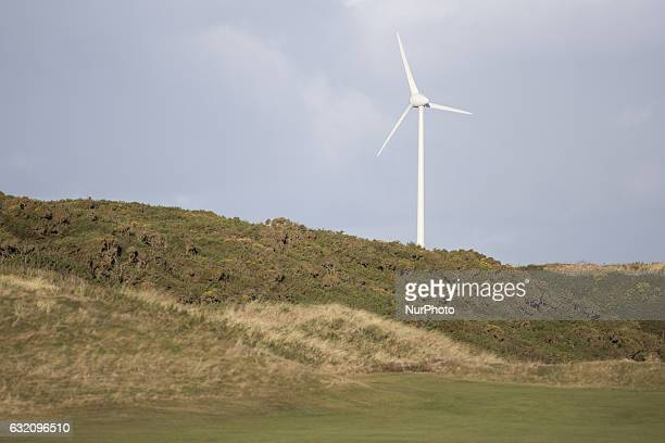 A wind turbine in Aberdeen on January 9 2017