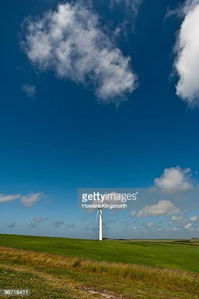wind turbine in landscape