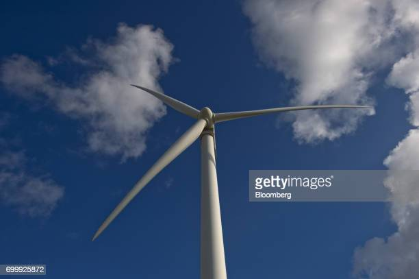 A wind turbine stands at the Avangrid Renewables' Baffin Wind Power Project in Sarita Texas US on Wednesday June 14 2017 In the cutthroat Texas...