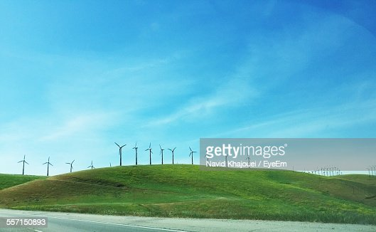 Wind Turbines Against Sky