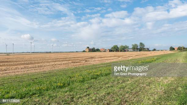 Wind Turbines and Farm Buildings, Essex, UK.