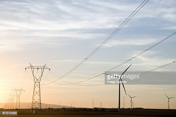 Wind turbines and pylons