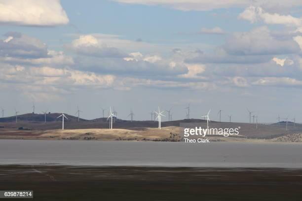 Wind turbines at Lake George