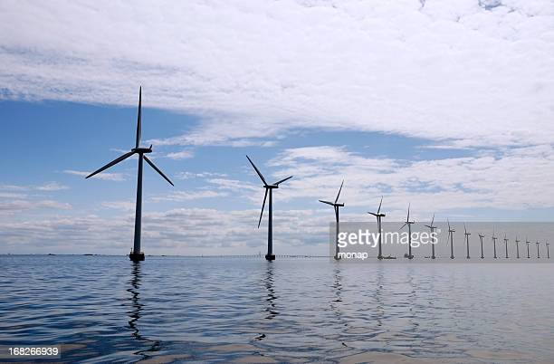 wind turbines at sea outside Copenhagen