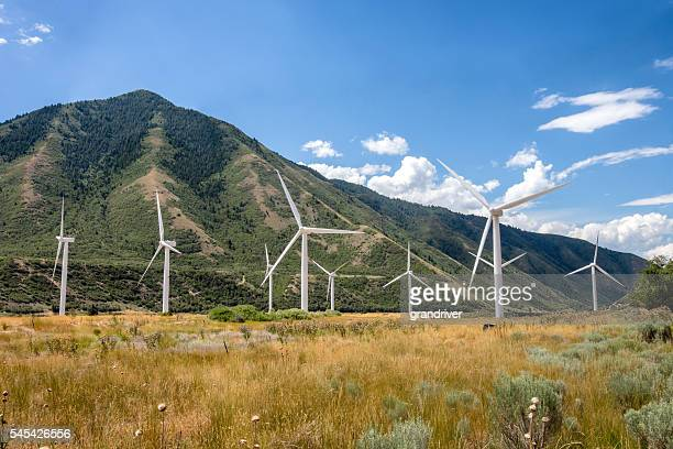 Wind Turbines At The Base Of A Foothill