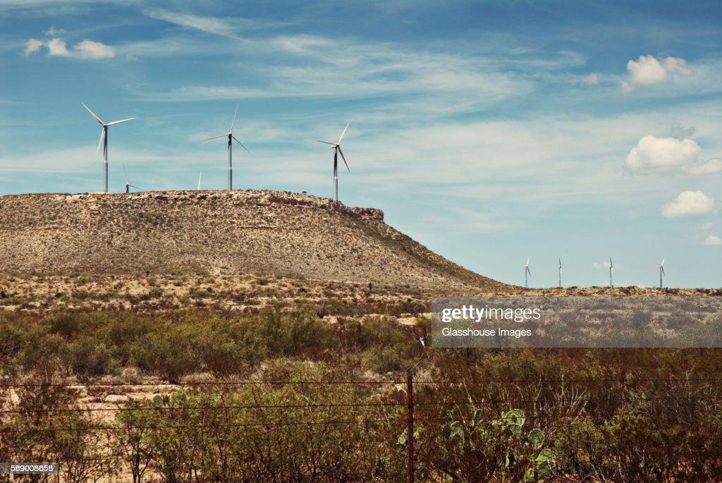 Wind Turbines in Arid Landscape