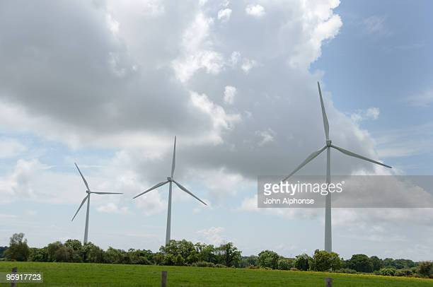 Wind turbines in Brittany, France