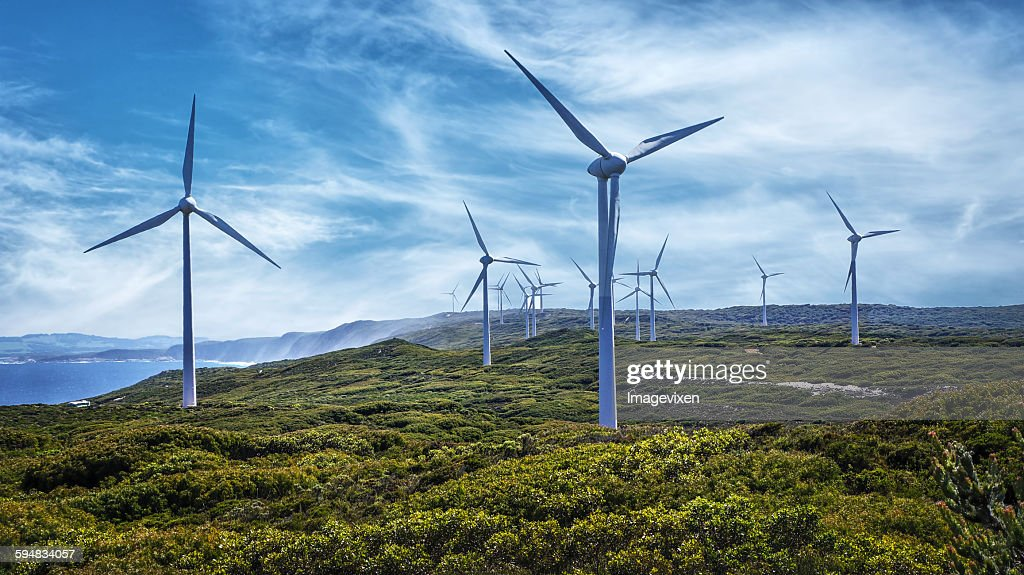 Wind Turbines on a Wind Farm, Australia