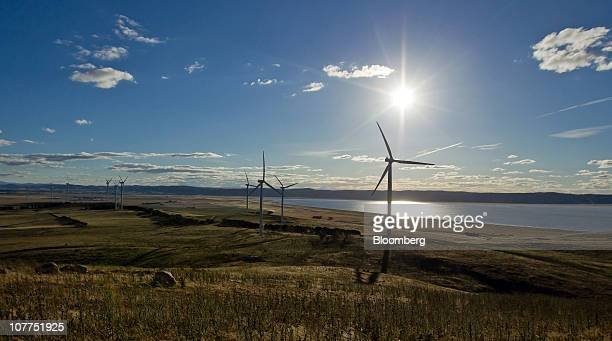 Wind turbines operate on Capital Wind Farm in Bungendore Australia on Wednesday Dec 22 2010 The wind farm comprises 67 21MW wind turbines with a...