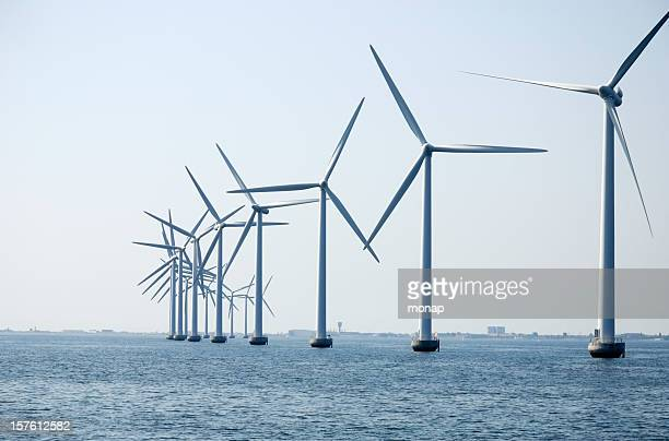 Wind turbines spinning in Denmark