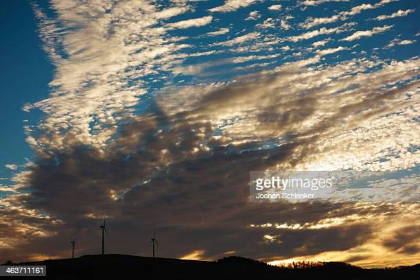 Wind turbines, Swabian Alb