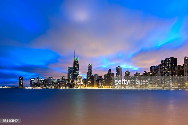 Windblown Clouds Above Chicago