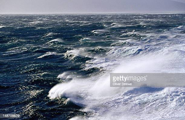 Windblown waves  in Cook Strait between Wellington and Picton.
