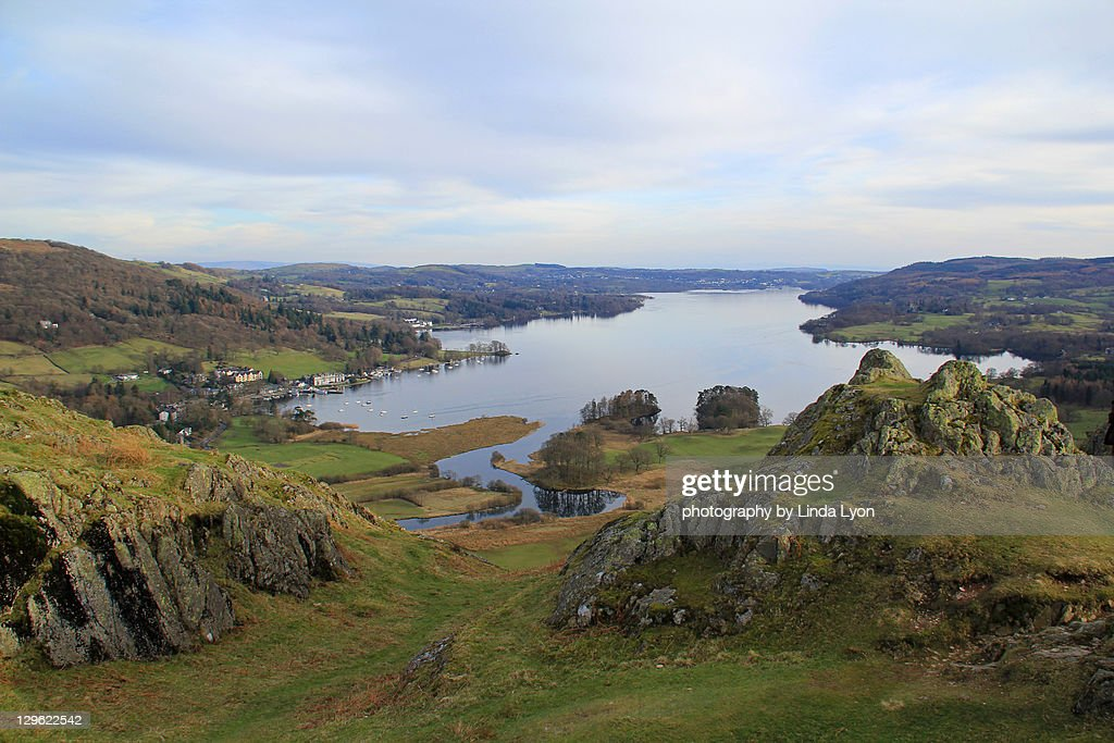 Windermere from Loughrigg fell : Stock Photo