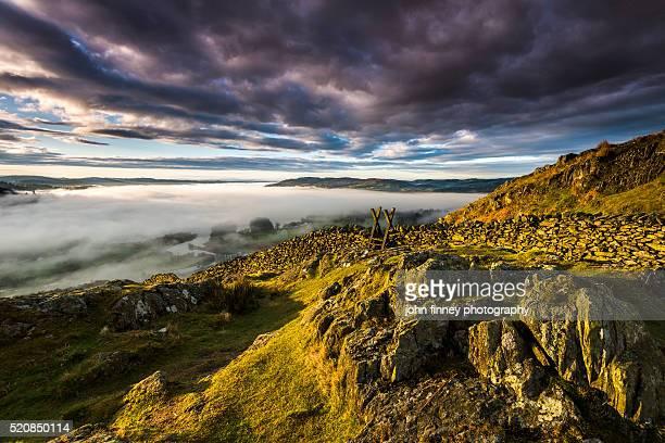 Windermere Lake sunrise. Lake District National park. UK.