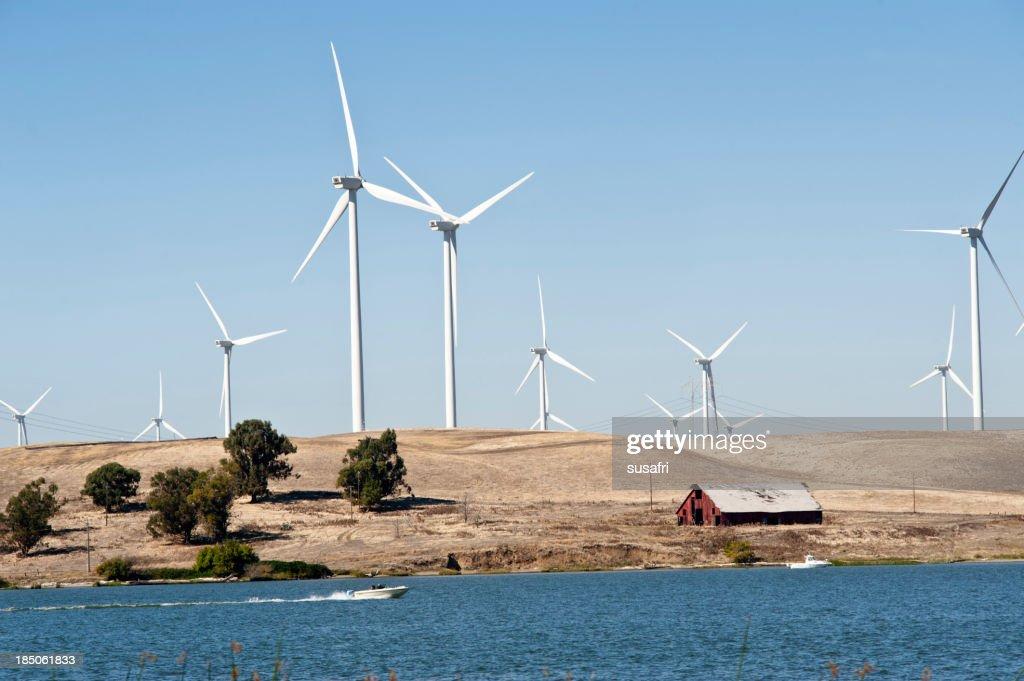 windfarm and old barn