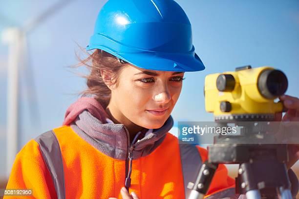 windfarm construction site surveyor