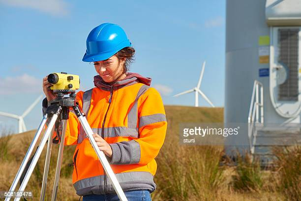 windfarm construction site surveyor