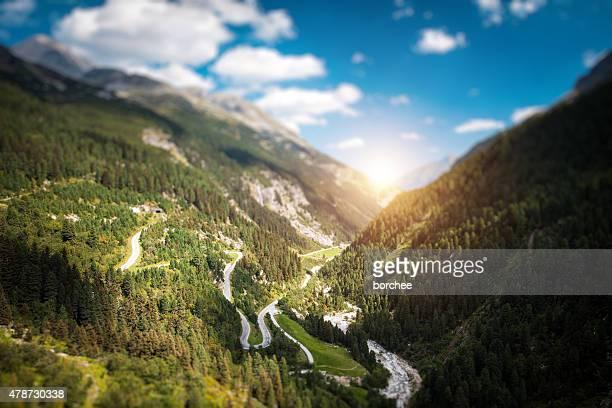 Kurvenreiche Alpine Road