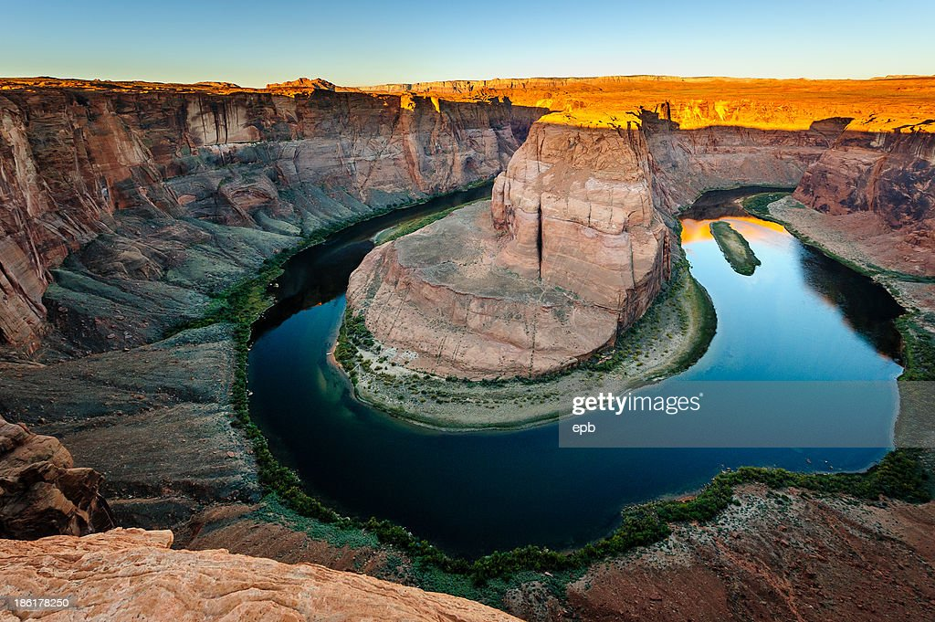 Winding Colorado river on Horseshoe Bend