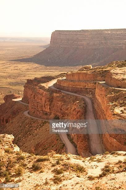 Winding highway in Mokee Dugway in Utah
