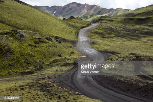 Winding road in mountain landscape : Stock Photo