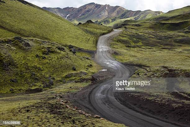 Winding road in mountain landscape