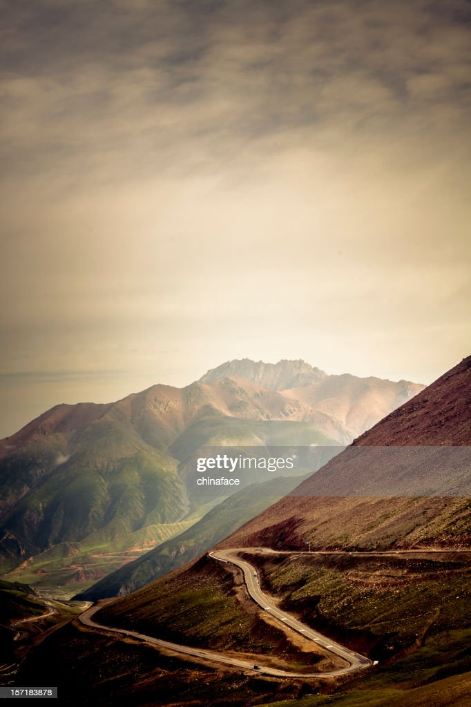 winding road in the mountain : Stock Photo