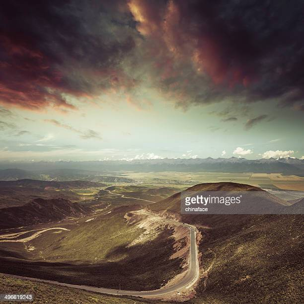 winding road in the mountain