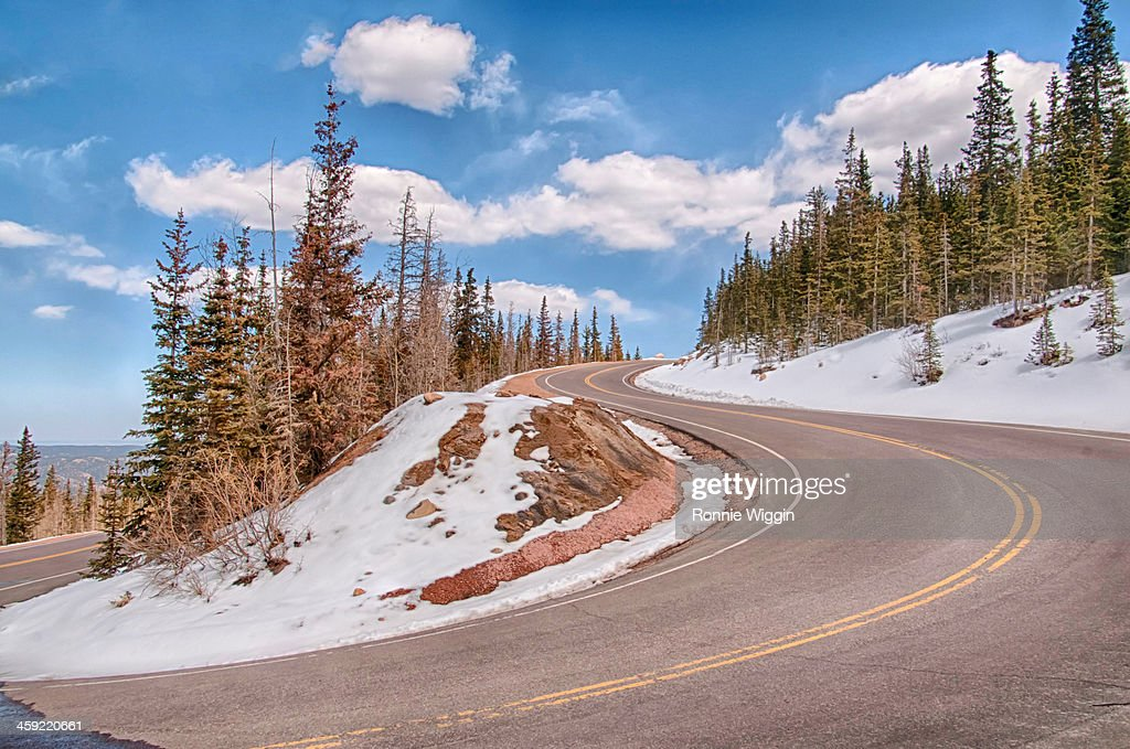A Winding Road to the Summit of Pikes Peak
