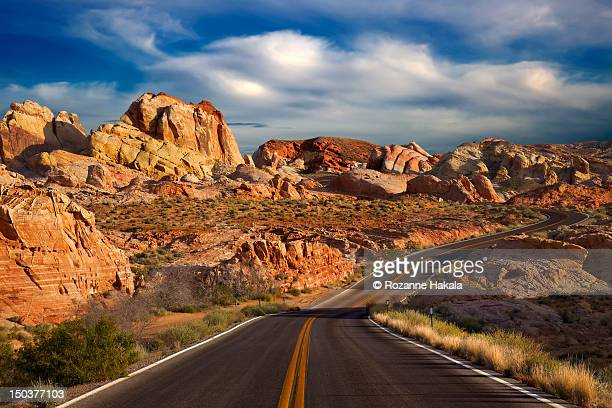 Winding road, valley of fire state park
