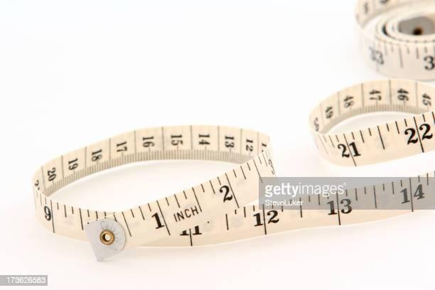 Winding tape measure.