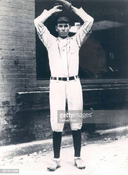 Winding up for a long and colorful career Dizzy Dean looked like this in what is believed to be the first picture of him in a baseball suit It was...