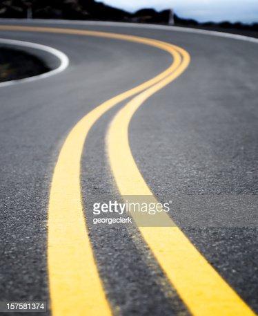Winding Yellow Road Line