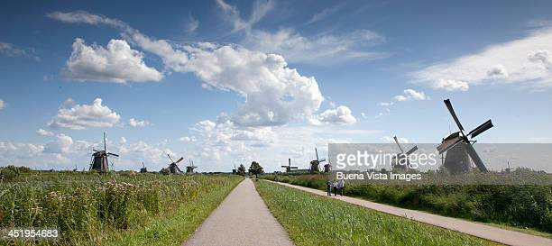 Windmill and country road