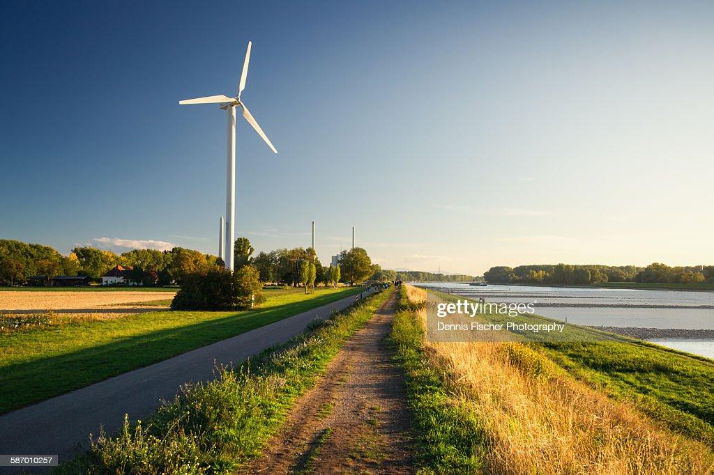 Windmill at Rhine river