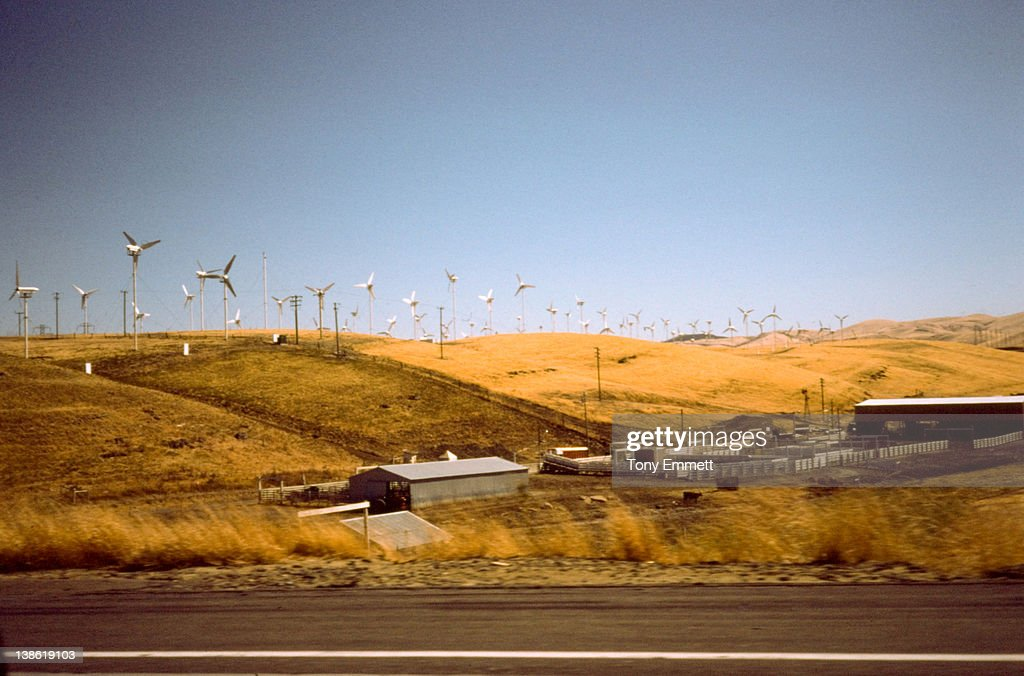 Windmill farm : Stock Photo