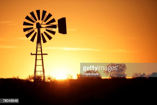 Windmill in silhouette