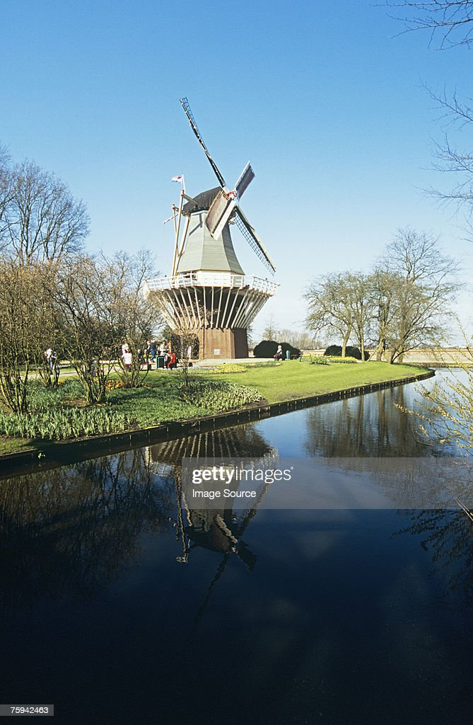 Windmill in the netherlands : Stock Photo