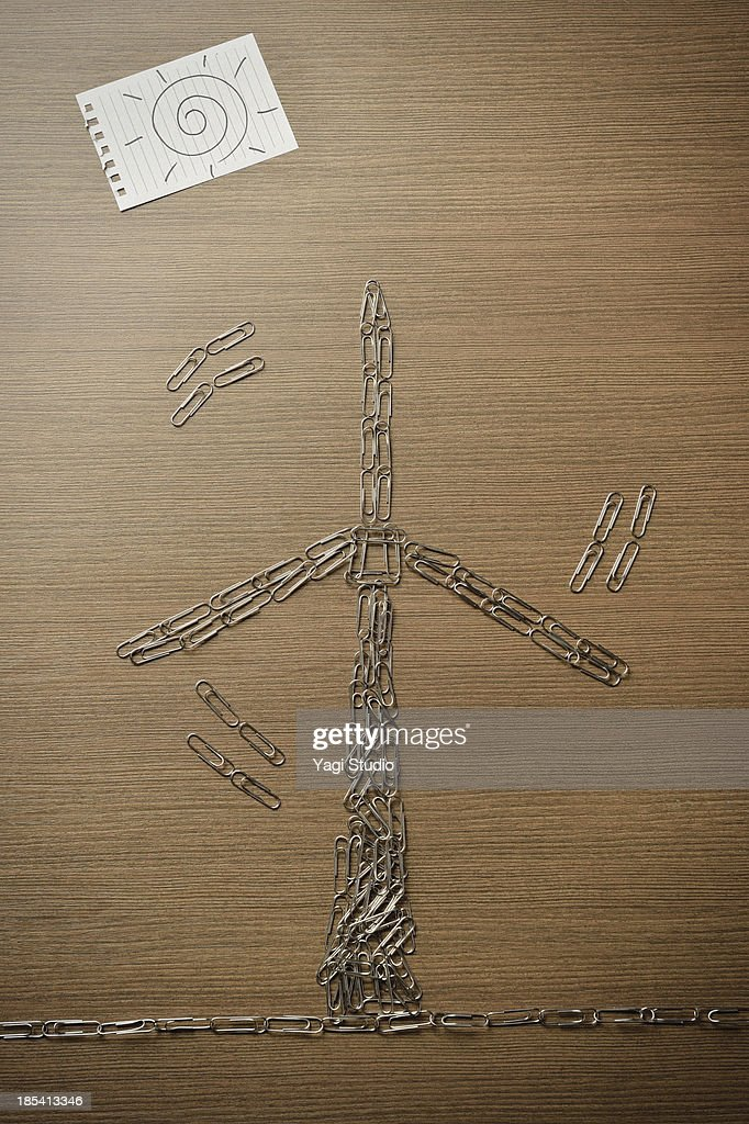 Windmill of the wind-generated electricity : Stock Photo