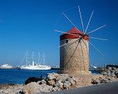 Windmill on coast