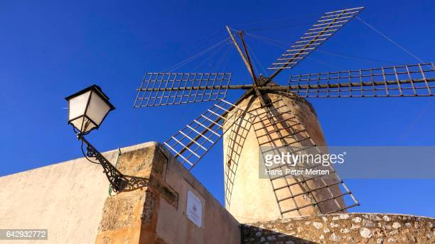 Windmill on Placa del Rentadors in Palma de Mallorca, Majorca, Balearic Islands, Spain