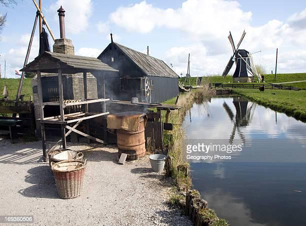 Windmill smoking fish Zuiderzee museum Enkhuizen Netherlands