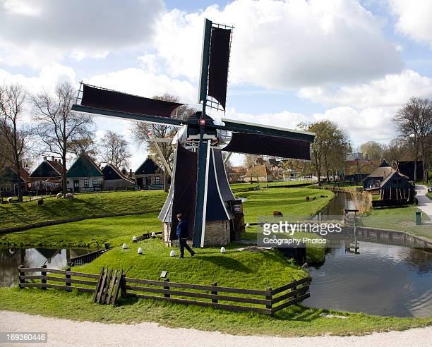 Windmill Zuiderzee museum Enkhuizen Netherlands
