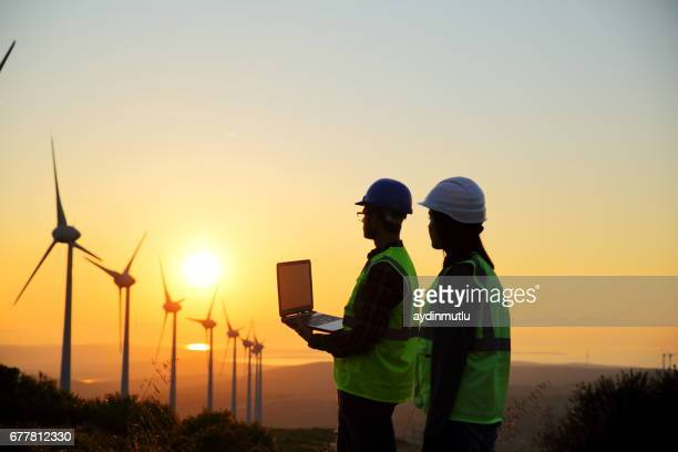 Windmühlen und Arbeitnehmer