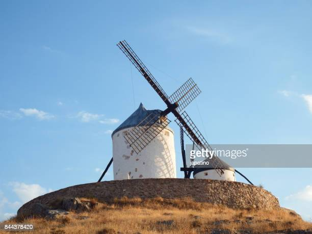 Windmills in the town of Consuegra in the province of Toledo