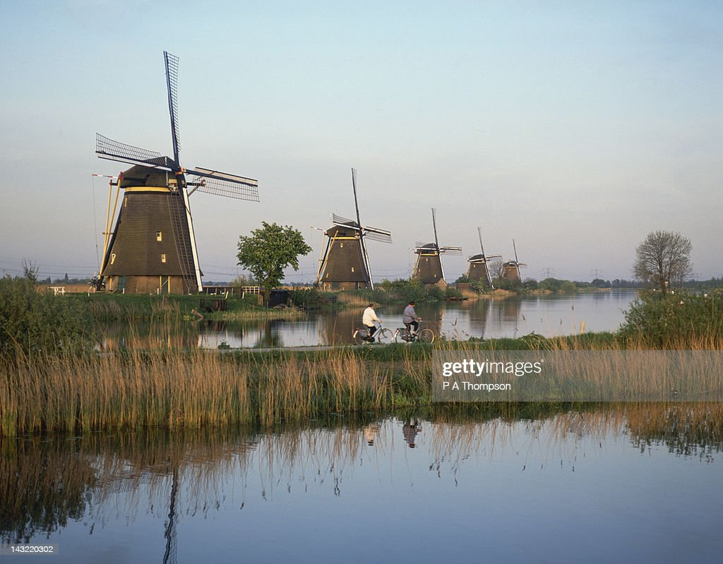 Windmills, Kinderdijk, Netherlands : Stock Photo
