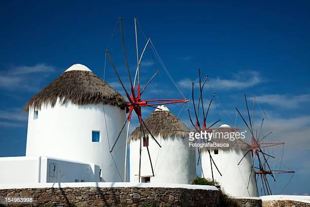 Windmills, Mykonos town, Greece