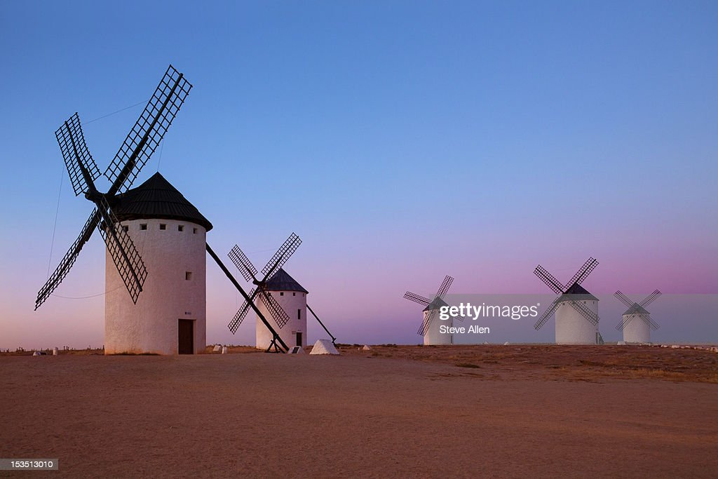 Windmills of La Mancha - Central Spain : Stock Photo